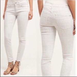 Anthropologie Pilcro White Skinny Jeans
